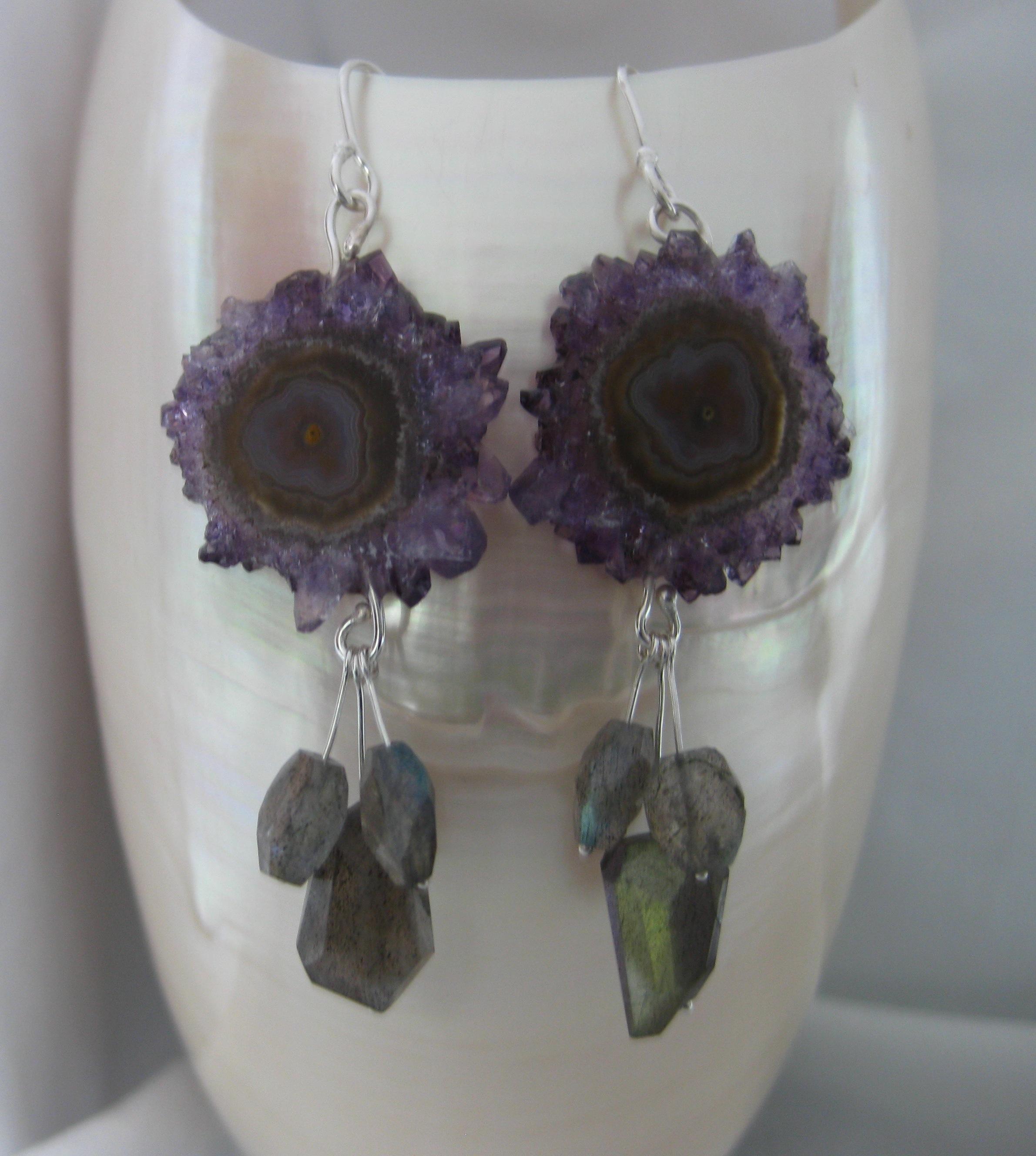 Stalactite & Labradorite Earrings