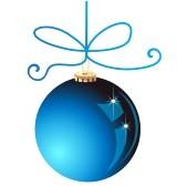 bluechristmasornament