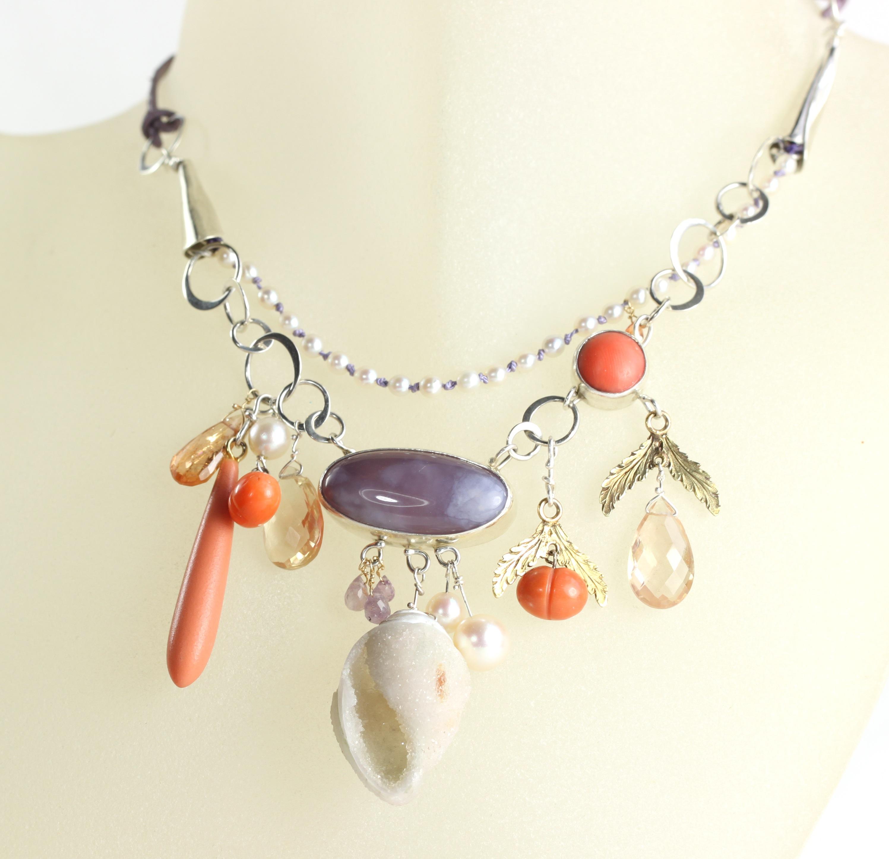4Kate Coral Lavender Necklace