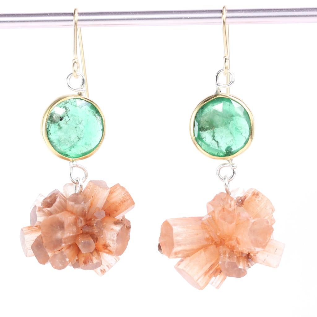 Rose_Cut_Emerald_Aragonite_Sputnik_Earrings 2017