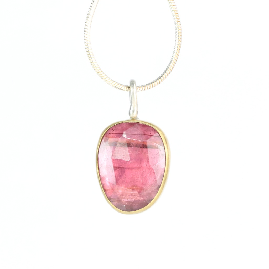 Rose Cut Orchid Pink Tourmaline Jewelry